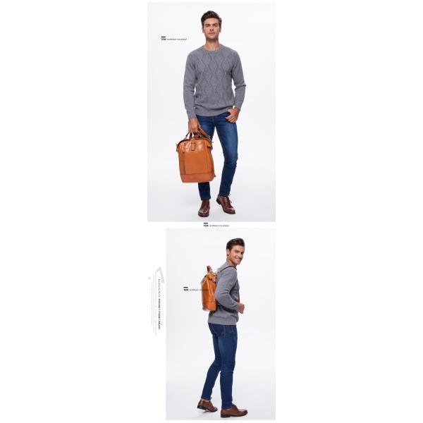 本革 メンズ リュックサック リュック ヌメ革 バッグ 鞄 通勤 通学 ビジネスバッグ|leisure-store|12