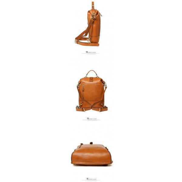 本革 メンズ リュックサック リュック ヌメ革 バッグ 鞄 通勤 通学 ビジネスバッグ|leisure-store|06
