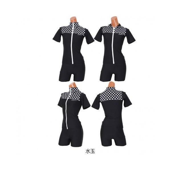 送料無料 日本製 水着レディース フィットネス 競泳水着 スイムウェア キャップ付 115|lemode1|06