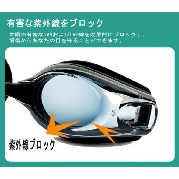 度付きゴーグル スイムゴーグル スイミングゴーグル 大人 水泳 男性 女性 水中メガネ 眼鏡 くもり止め UVカット 黒 フィットネス水着 C-go9 lemode1 02