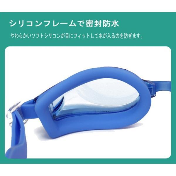 度付きゴーグル スイムゴーグル スイミングゴーグル 大人 水泳 男性 女性 水中メガネ 眼鏡 くもり止め UVカット 黒 フィットネス水着 C-go9 lemode1 04