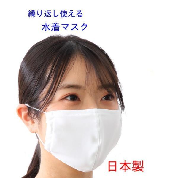 マスク 日本製 水着マスク 水着素材 水着生地 個包装 大人用 白 繰り返し使える 洗える 風邪 花粉症対策 予防 ブロック 医薬部外品|lemode1