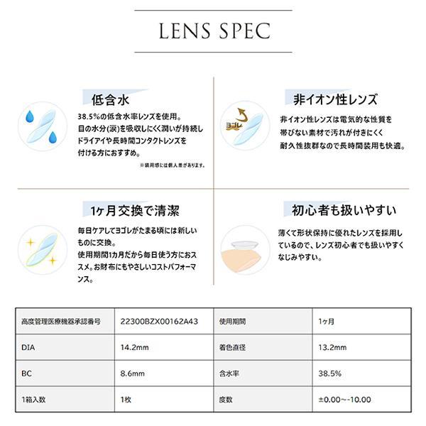 カラコン カラーコンタクトレンズ 度あり 度なし 1ヶ月 マンスリー SEA BLINK シーブリンク 1枚入 2箱とケア用品(バイオクレンワン360ml×2本)セット|lens-deli|04