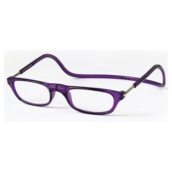 老眼鏡 クリックリーダー パープル (PU)