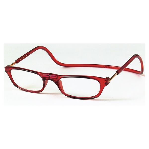 老眼鏡 クリックリーダー レッド (RE)