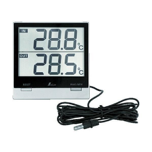 シンワ測定 デジタル温度計SmartC 最高・最低 室内・室外防水外部センサー 73118
