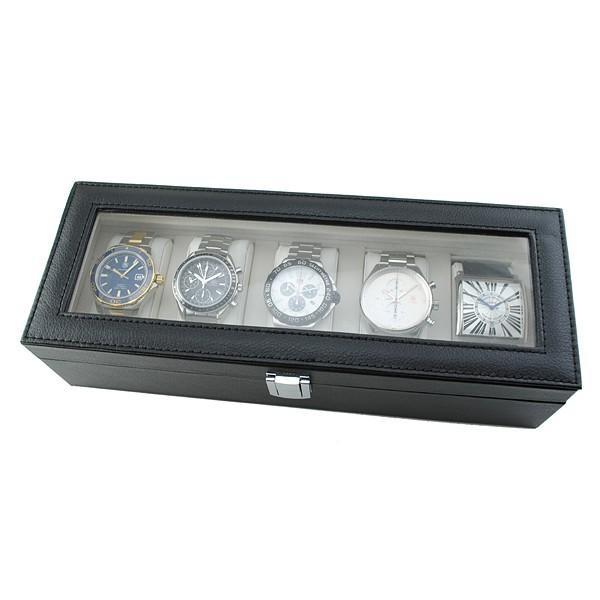 (10%割引クーポン)腕時計本舗オリジナル 時計ケース 5本収納コレクションボックス