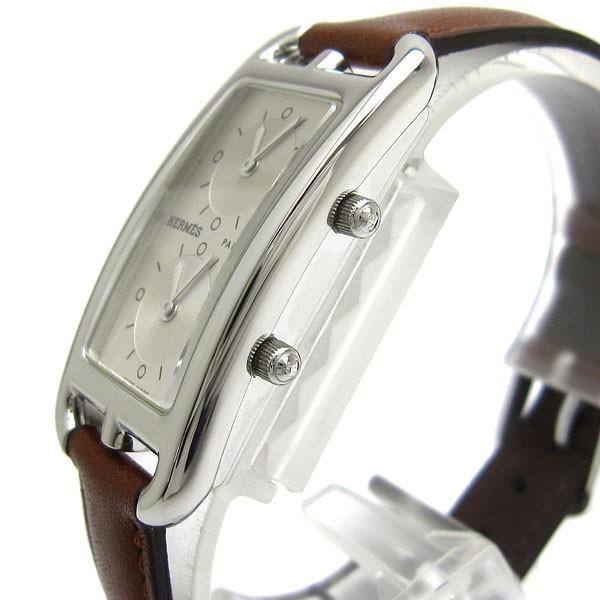 エルメス 時計 ケープコッド 2タイム レディース CC3.210 HERMES ナンタケット ドゥゾーン レア|leonshop|03