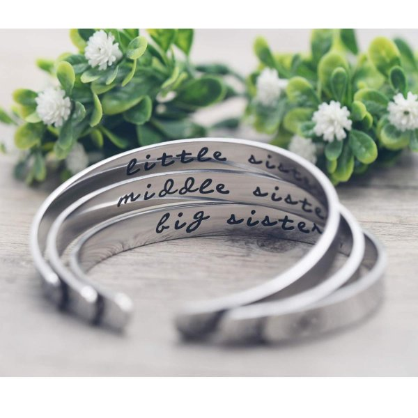 Melix Home Big Sis Middle Sis Little Sis Sister Cuff Bracelet Family F level1 06