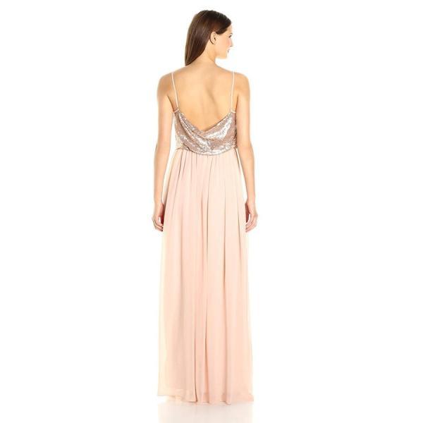 Donna Morgan Womens Paige Sequin Blouson Gown