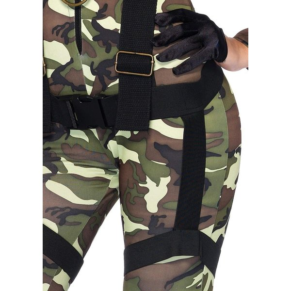 2 PC Ladies Pretty Paratrooper Camo Jumpsuit Set