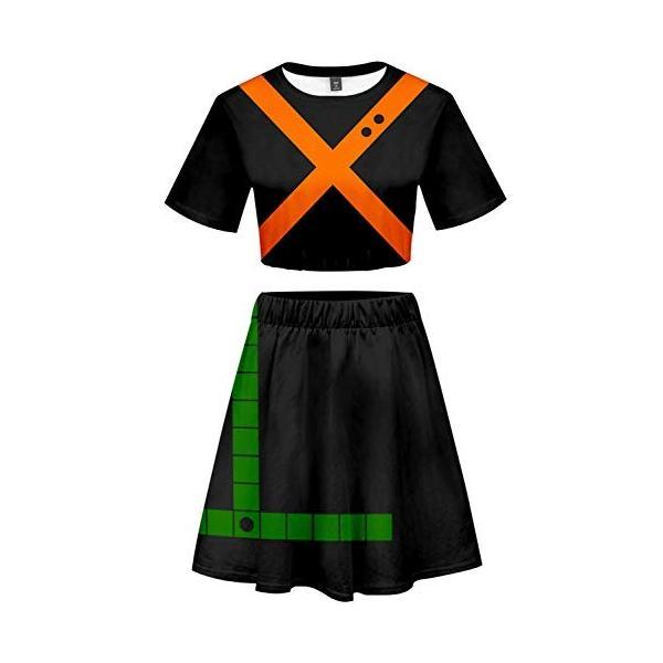 Custom Made My Hero Academia Women Cosplay Costume Cheerleader Uniform Outfit