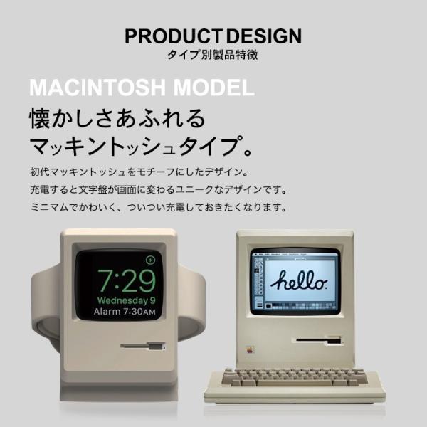AppleWatch スタンド 充電器 series3 series2 38mm 42mm 丸型 Macintosh型 charger 充電器不要 Lightning 充電 おすすめ|lfs|06