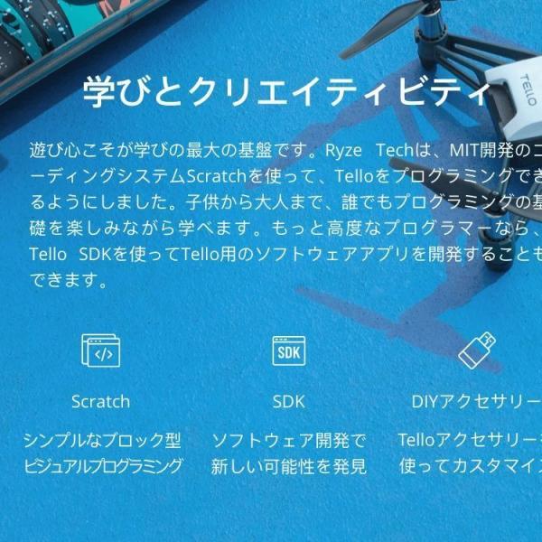 Ryze トイドローン Tello Powered by DJI インテル 小型 ドローン テロー セルフィー 航空法規制外 FPV 日本 ライズ・ロボティクス|lfs|12