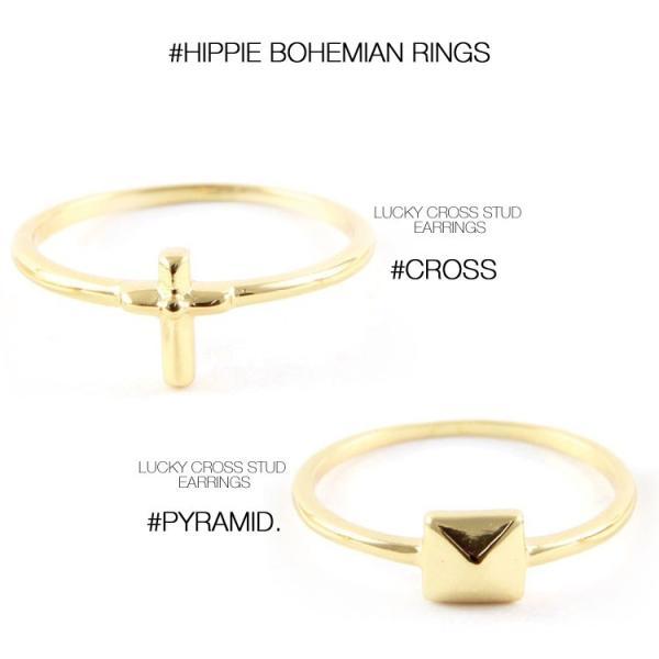 (メール便送料無料) ettika エティカ 指輪 リング ゴールド 金色 レディース 小ぶり ボヘミアン ヒッピー LA アメリカ セレブ 海外 インポート 7号 ピンキー|lfs|03