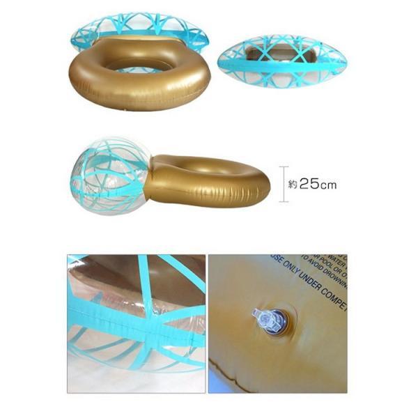 浮き輪 指輪 浮輪 うきわ リング ダイヤモンド ダイヤ 大型 大きい ビッグ フロート リング ビーチ プール SNS インスタ リングプールフロート 夏 プロポーズ|lfs|06