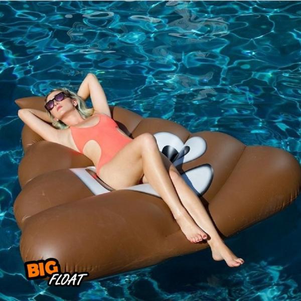 浮き輪 うんこ 浮輪 うきわ うんち 大型 大きい ビッグ フロート かわいい 絵文字 インテリア ビーチ プール SNS インスタ うんこフロート 夏 イベント|lfs|05