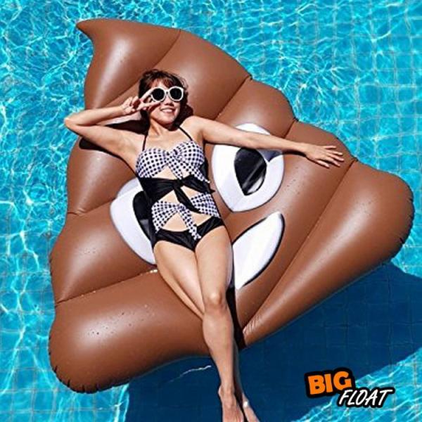 浮き輪 うんこ 浮輪 うきわ うんち 大型 大きい ビッグ フロート かわいい 絵文字 インテリア ビーチ プール SNS インスタ うんこフロート 夏 イベント|lfs|09