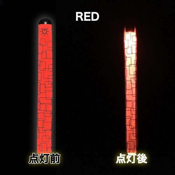 LED Wristband ぱっちんバンド パッチンバンド ランニンググッズ ナイトラン マラソン ジョギング バンド アームバンド リストバンド 光るバンド スポーツ|lfs|13