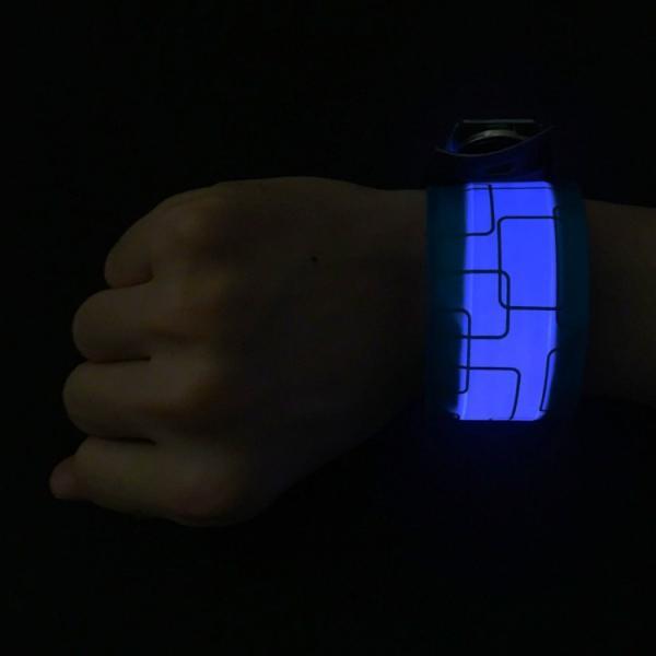 LED Wristband ぱっちんバンド パッチンバンド ランニンググッズ ナイトラン マラソン ジョギング バンド アームバンド リストバンド 光るバンド スポーツ|lfs|10