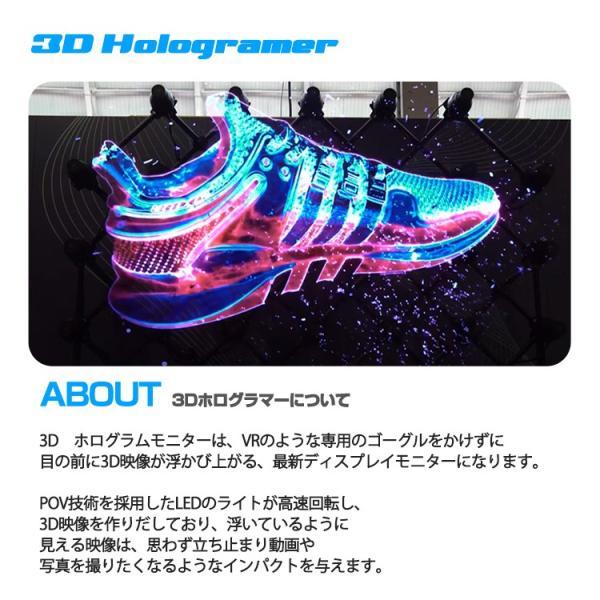 2019 3D hologramer LEDモニター 最新広告 3D映像 ディスプレイ 立体映像 広告ディスプレイ 3Dホログラム プロジェクター デジタルサイレージ LEDファン lfs 03