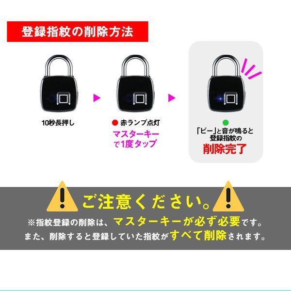 鍵が要らない 指紋認証のスマート南京錠 スマートロック Touch ID 防犯 指紋認証 南京錠 アプリ不要 防水・防塵設計 長時間使用 USB充電 暗証番号不要 生体認証 lfs 15