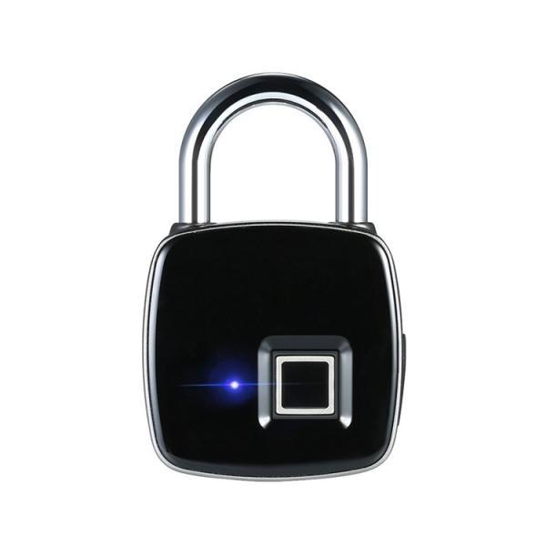 鍵が要らない 指紋認証のスマート南京錠 スマートロック Touch ID 防犯 指紋認証 南京錠 アプリ不要 防水・防塵設計 長時間使用 USB充電 暗証番号不要 生体認証 lfs 20