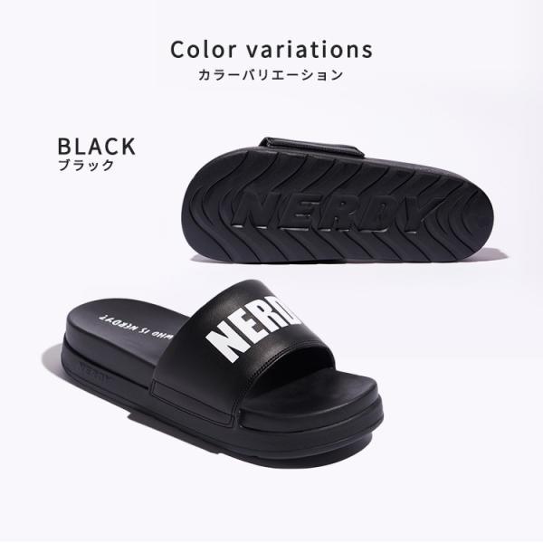 NERDY ノルディ サンダル Big Logo Platform Slide 韓国 ZICO 原宿 メンズ レディース ユニセックス スポーツ nerdy 正規品|lfs|05
