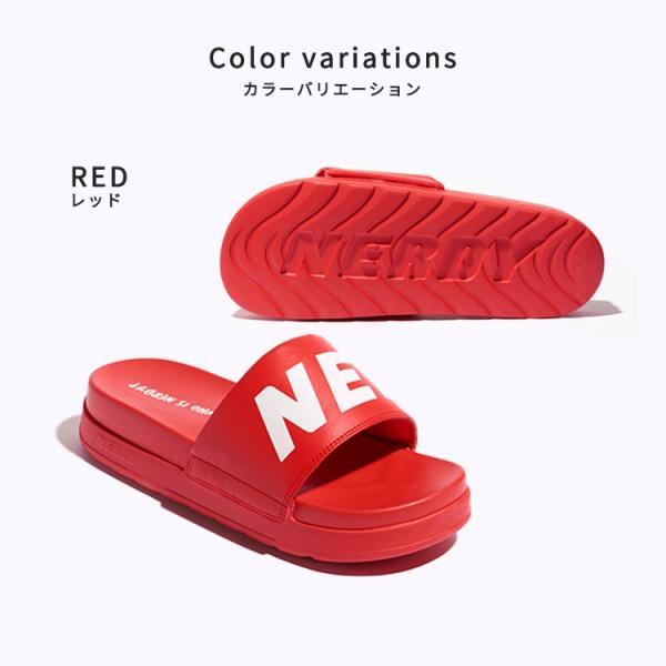 NERDY ノルディ サンダル Big Logo Platform Slide 韓国 ZICO 原宿 メンズ レディース ユニセックス スポーツ nerdy 正規品|lfs|06