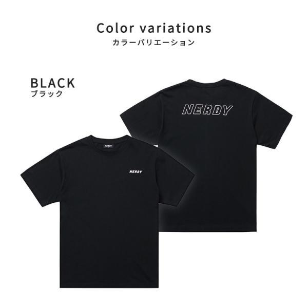 NERDY ノルディ BASIC T-SHIRTS ベーシック Tシャツ 韓国 ZICO 原宿 メンズ レディース ユニセックス nerdy 正規品|lfs|05