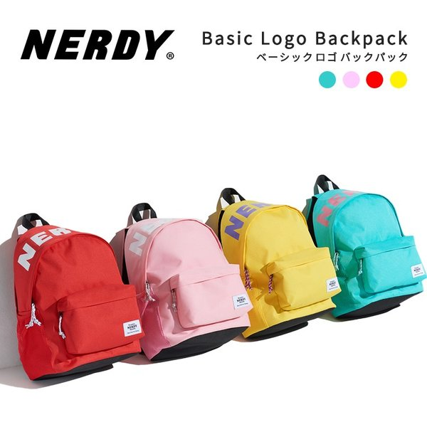 NERDY ノルディ Basic Logo Backpack バックパック リュックサック バック 原宿 メンズ レディース nerdy 正規品|lfs