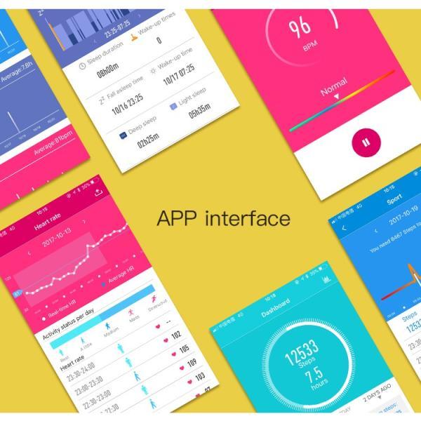 スマートウォッチ 日本語対応 カラーディスプレイ フィットネス スマートブレスレット iPhone Android IP7 防水防塵 睡眠計 血圧 (レビューを書いてプレゼント)|lfs|17