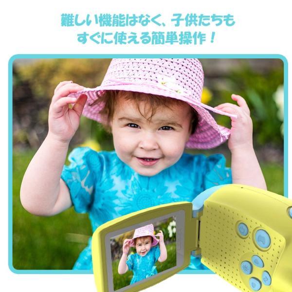 キッズカメラ 約1200万画素 トイビデオカメラ 子供用 カメラ デジタルカメラ トイカメラ 自撮り 日本語 写真 動画 ゲーム USB充電 プレゼント おもちゃ lfs 05