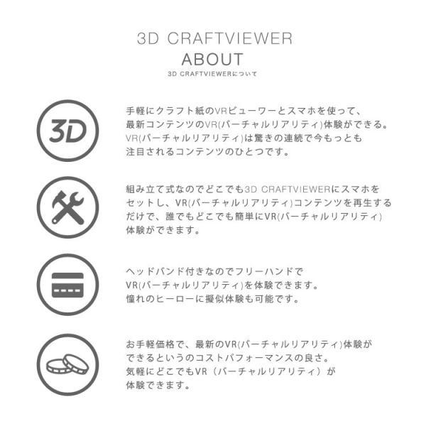 (メール便送料無料) 3D VR クラフトビューアー vrゴーグル ヘッドセット 360° 動画 3D映像 スマホ メガネ iphone|lfs|03