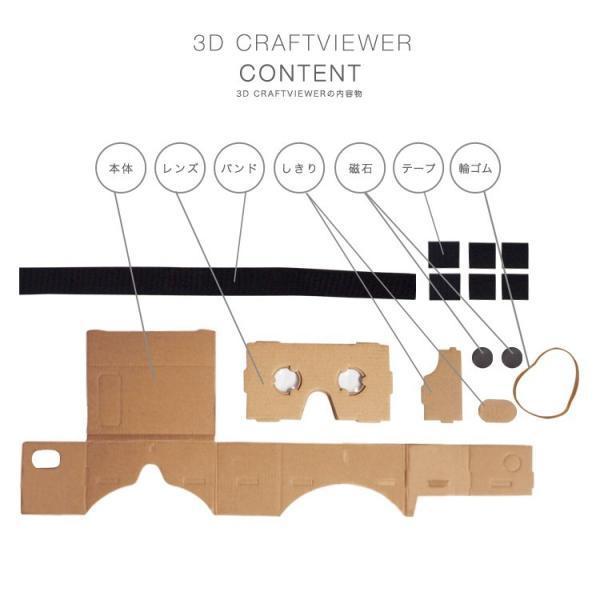 (メール便送料無料) 3D VR クラフトビューアー vrゴーグル ヘッドセット 360° 動画 3D映像 スマホ メガネ iphone|lfs|06