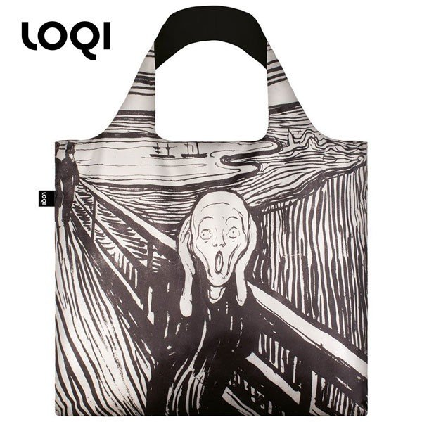 ローキー エコバッグ トートバッグ LOQI メンズ レディース アート グラフィック 手提げ袋 gy ptn