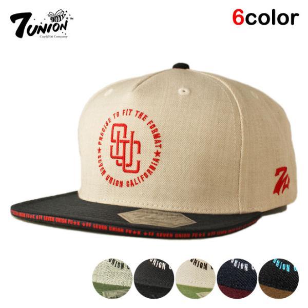 セブンユニオン 7UNION スナップバックキャップ 帽子  メンズ レディース wt gy bk|liberalization