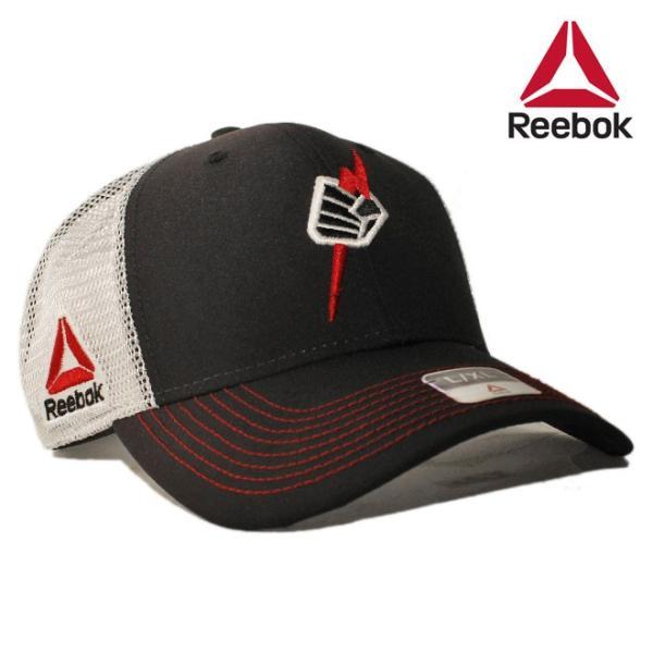 5a109be2 リーボック ユーエフシー コラボ ベースボールキャップ メッシュ 帽子 Reebok UFC メンズ レディース bkの画像