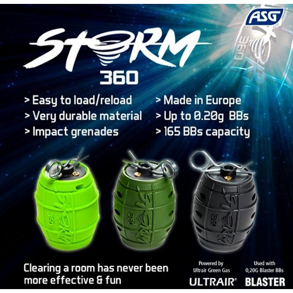 STORM360 IMPACT GRENADE  ( Grey/Gris  Black / Noir  Army Green  Red/Rouge   Lime Green )|liberator