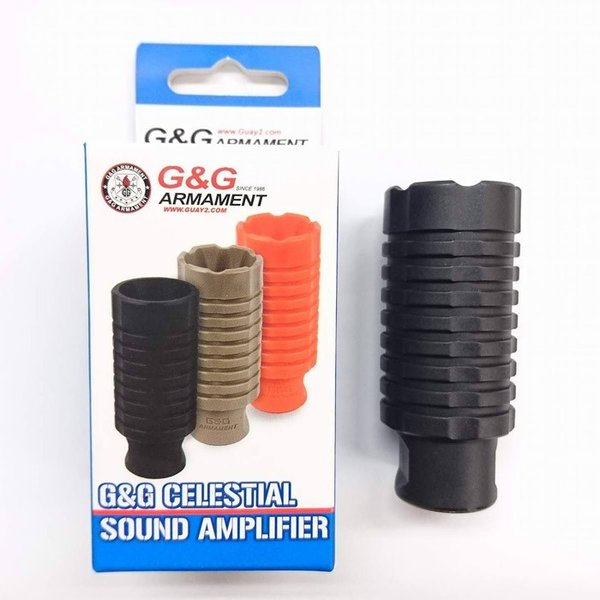 G&G G-02-105 Celestial sound Plastic Amplifier -  Black (14mmCCW) liberator