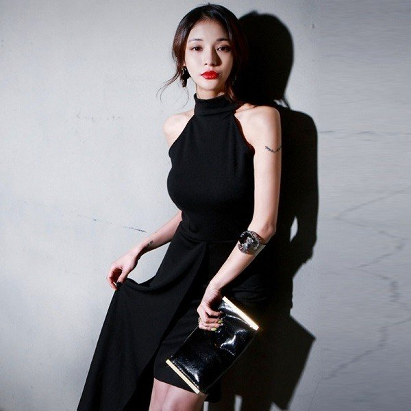 24274ecb7cf63 ... 韓国ワンピース 40代 30代 50代 20代 パーティードレス キャバドレス アシンメトリースカート ...
