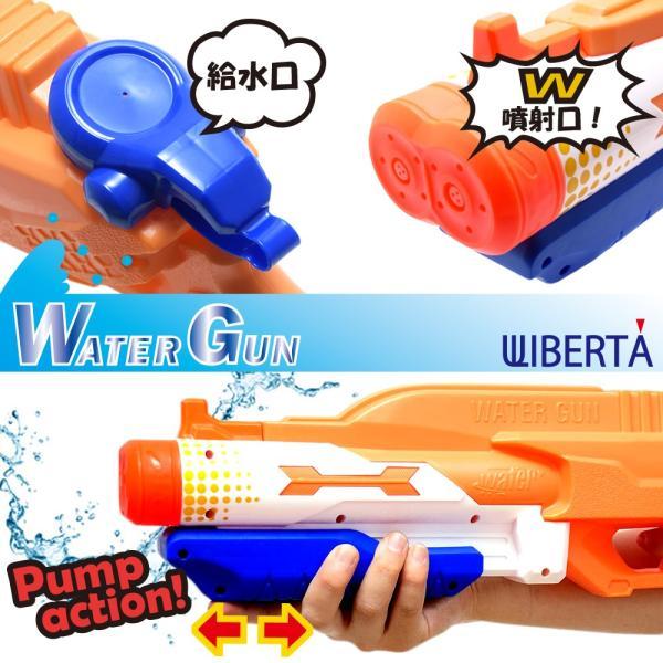 水鉄砲 ウォーターガン 超強力飛距離 8m 10m 容量 1L 高性能 ポンプ おもちゃ オレンジ|liberta-shop|03