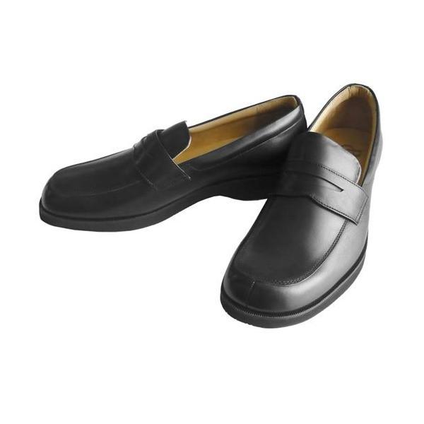 リーガルコーポレーション 紳士シューズ ローファー ブラック GB13 3E 抗菌 防臭 軽量 靴
