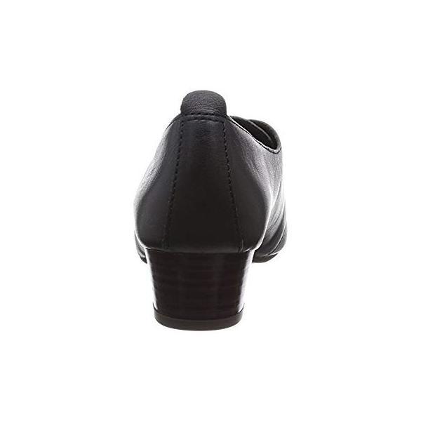 ヒップス レースアップパンプス 231256 BL (ブラック/35)