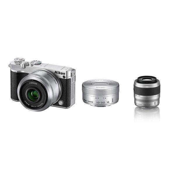 Nikon ミラーレス一眼 Nikon1 J5 ダブルレンズキット シルバー J5WLKSL +望遠ズームレンズ 1 NIKKOR VR 3