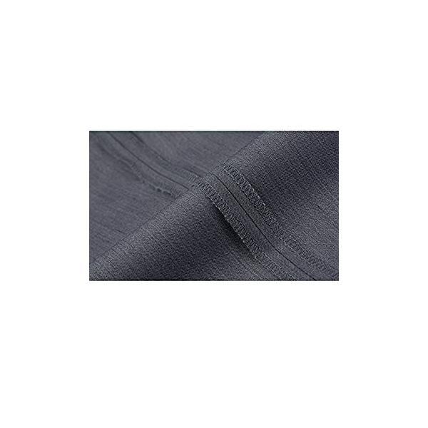 VYOOU メンズ スラックス ビジネス 通勤 ノータック スリム 高品質 薄手 厚手 春 夏 秋 冬 オールシーズン (36, グレー)|liberty-online|13