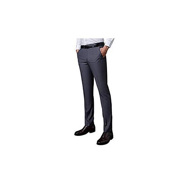 VYOOU メンズ スラックス ビジネス 通勤 ノータック スリム 高品質 薄手 厚手 春 夏 秋 冬 オールシーズン (36, グレー)|liberty-online|04