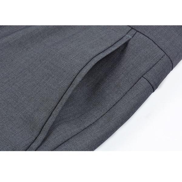 VYOOU メンズ スラックス ビジネス 通勤 ノータック スリム 高品質 薄手 厚手 春 夏 秋 冬 オールシーズン (36, グレー)|liberty-online|05