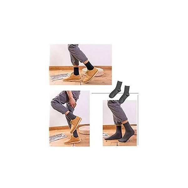 メンズソックス 靴下 メンズ ビジネスソックス ブランド 綿5足? 冬 におい あたたかい25~28cm黒 おしゃれ かわいい 大きいサイズ|liberty-online|12