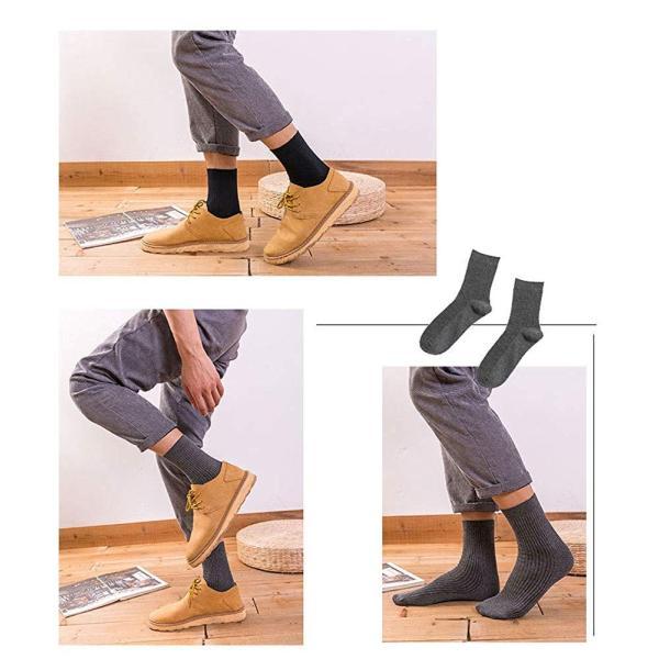メンズソックス 靴下 メンズ ビジネスソックス ブランド 綿5足? 冬 におい あたたかい25~28cm黒 おしゃれ かわいい 大きいサイズ|liberty-online|13